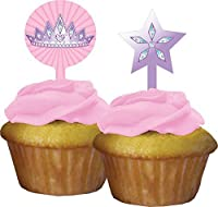 Creative Converting 12 Count Princess Party Cupcake Topper Pink [並行輸入品]