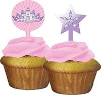 Creative Converting 12 Count Princess Party Cupcake Topper Pink [並行輸入品]