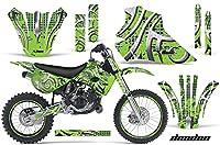 Kawasaki kx80kx1001995–1997MXダートバイクグラフィックキットステッカーデカールKX 80100with Number Plates Deadenグリーン
