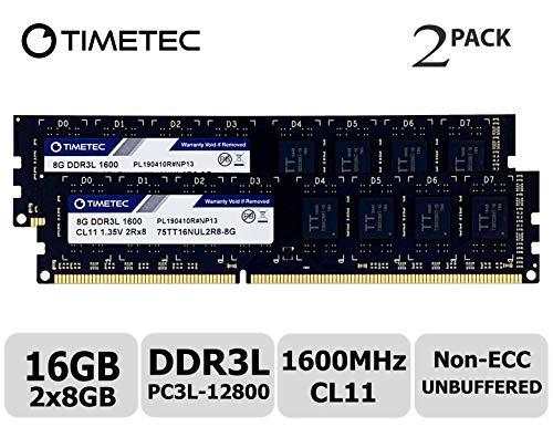 Timetec Hynix IC デスクトップPC用メモリ DDR3L 1600 MHz PC3L 12800 240 Pin UDIMM 永久保証 (16 GB キッ...