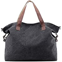 Fanspack Women's Canvas Hobo Tote Bag Large Capacity Top Handle Handbags Crossbody Shoulder Bag Messenger Bag