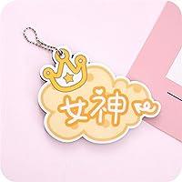 HuaQingPiJu-JP 折り畳み可能なミニ漫画の女神のパターンミラー工芸装飾化粧品アクセサリー