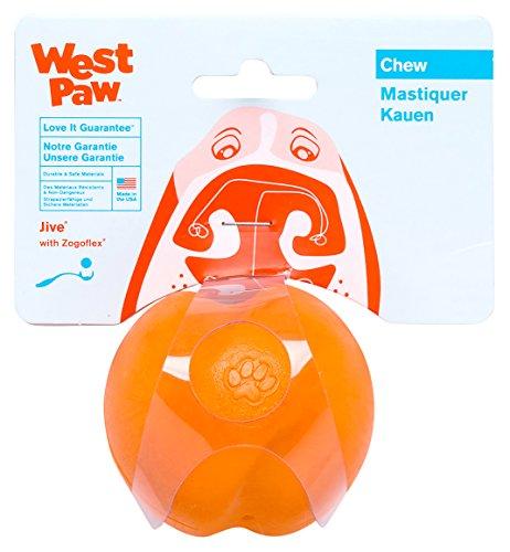 West Paw 犬用おもちゃ ゾゴフレックス ジャイヴ オレンジ Sサイズ