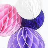 aoe DEPOT ハニカムボール 3サイズ 4色 12個 パーティーセット (パープル系)