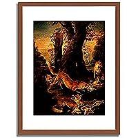 Oudry, Jean Baptiste,1696-1755「Fuchse mit ihrer Beute.」インテリア アート 絵画 プリント 額装作品 フレーム:木製(茶) サイズ:S (221mm X 272mm)