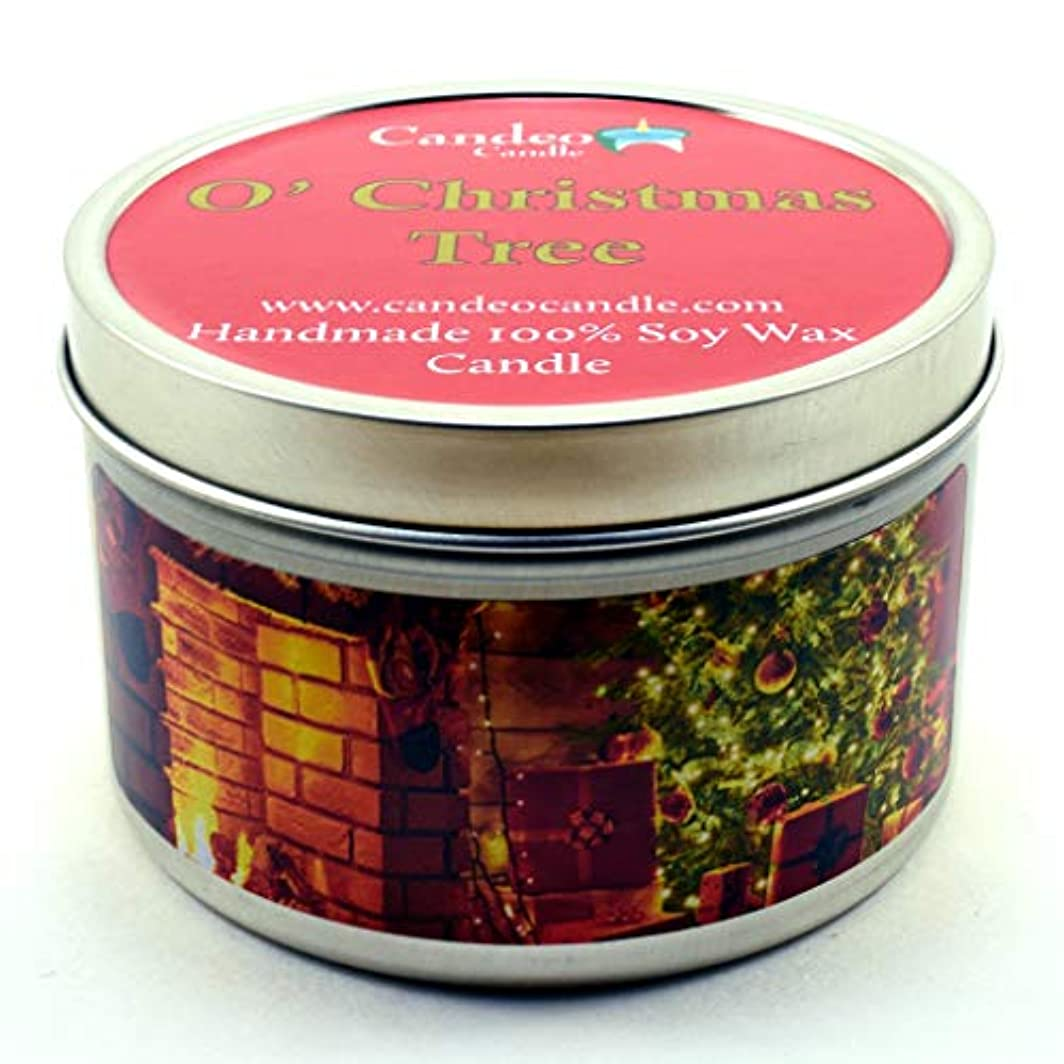 定期的な辛なページェント(180ml) - O' Christmas Tree, Super Scented Soy Candle Tin (180ml)