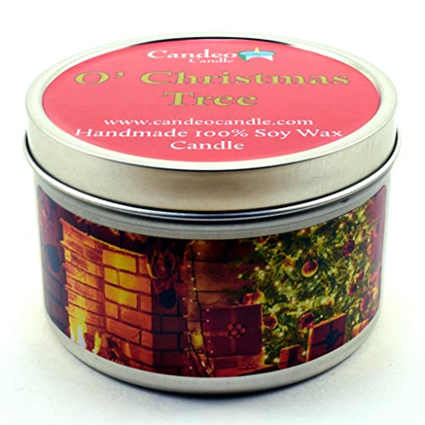 郵便局ラベル優先権(180ml) - O' Christmas Tree, Super Scented Soy Candle Tin (180ml)