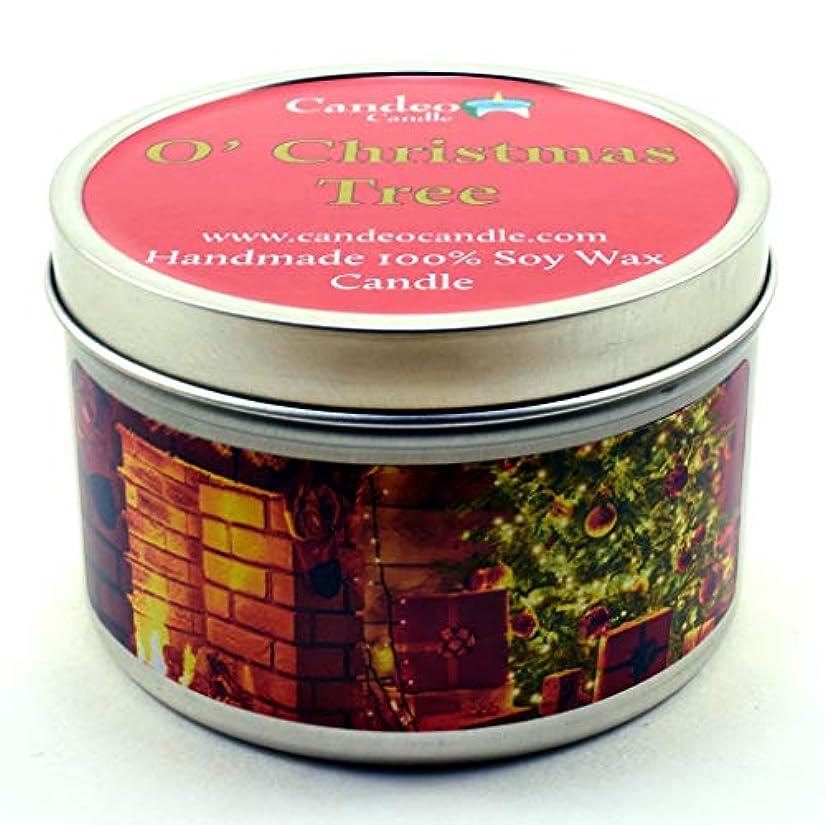 飛び込む世代関数(180ml) - O' Christmas Tree, Super Scented Soy Candle Tin (180ml)