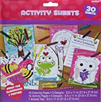 Valentine Colouring and Activity Sheets - 30 Count