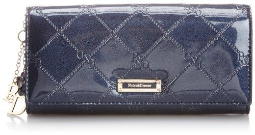 [ピンキーアンドダイアン] Pinky&Dianne 長財布 チェックエナメル カブセ薄型長財布