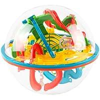 3Dブレインメイズボール バランスゲーム 知育ゲーム 迷路ボール 教育玩具 立体知育玩具 (118 ギミック)