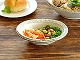 【M'home style】和食器 渕錆粉引型楕円取り鉢15.3cm