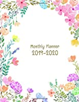 "2019-2020 Monthly Planner: Academic Weekly & Monthly Pocket Calendar Schedule Organizer, 8.5"" x 11"", 102 Pages"