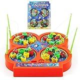 ワクワク 魚釣り 4人 対戦 テーブル 磁石 マグネット フィッシング ゲーム さかなつり 音が出る 知育玩具