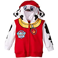 Nickelodeon Paw Patrol Little Boys' Toddler Marshall Hoodie, Red