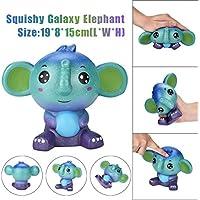 ジャンボキュートGalaxy Elephant Squishy香りつきクリームスーパーSlow Rising SqueezeおもちゃStress Relieve SqueezeソフトLovelyおもちゃ子供プレゼントおもちゃSlow Risingミニチュアノベルティおもちゃ装飾