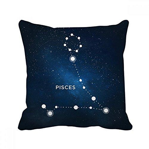 うお座十二宮のサイン スクエアな枕を挿入してクッションカバーの家のソファの装飾贈り物 50cm x 50cm