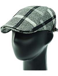 [PLIC N PLOC]EMH15.ステッチビッグチェックメンズベレー帽 ハンチング フラットキャップ帽子 鳥打ち帽 秋 冬