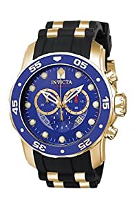 腕時計 インヴィクタ Invicta Men's 6983 Pro Diver Collection Chronograph Blue Dial Black Polyurethane Watch【並行輸入品】