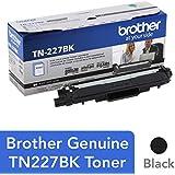 Brother Genuine TN227BK High Yield Black Toner Cartridge, TN227