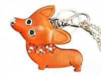 コーギー 犬 本革製 バッグチャーム VANCA CRAFT 革物語(日本製 ハンドメイド)
