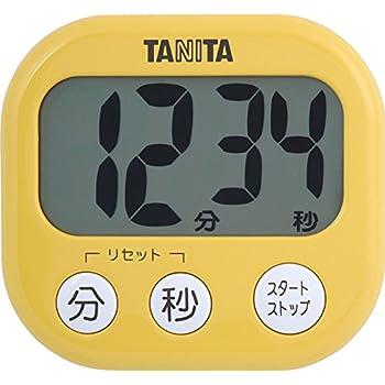 タニタ タイマー 大画面 100分 イエロー TD-384 MY でか見えタイマー