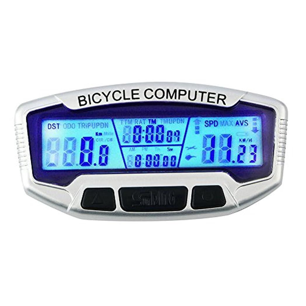 落ち着く舌な小さい有線防水lcd自転車コンピュータバイクサイクリングコンピュータ走行距離発光夜用スピードメーターバイク有線velometer
