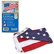 Annin Flagmakers Model 2710 American Flag 3x5 ft. Tough-Tex The Strongest, Longest Lasting Flag, 100% Made in USA with Sewn Stripes, Embroidered Stars and Brass Grommets.