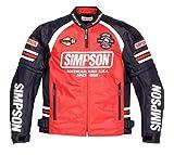 シンプソン(SIMPSON) バイクジャケット メッシュジャケット レッド M SJ-7117