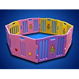 New Pink 8 Panel Baby Playpen Kids Safety Play Center Yard Home Indoor Girls by Baby Playpen [並行輸入品]