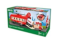 Brio Cargo Helicopter Wooden Toy Red [Floral] [並行輸入品]