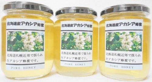 北海道産あかしあ蜂蜜300g 3本セット。