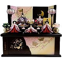 雛人形 久月 ひな人形 雛 コンパクト収納飾り 五人飾り 夢美月 小三五親王 小芥子官女 h303-k-2108 K-13