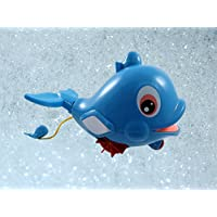 Swimming Dolphin Floating Bathtub Bath Toy for kids with Water Squirter [並行輸入品]