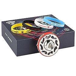 MixMart 絶版 スピナー ハンドスピナー フィジェットスピナー 鏡面研磨 3~6分間 Hand Spinner ステンレススチール 指スピナー MagicShark おもちゃ Fidget Spinner 暇つぶし 指遊び カラーリング交換可 魔輪