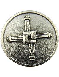 Irish Catholic Brigids Cross with St Saint Blessing Pocket Token