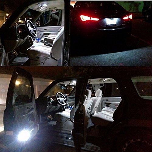 e-auto fun T10×28mm LED サムスン製3030チップ4連搭載 驚きの明るさ 2個セット ルームランプ 白 6500K 12-24V対応 JU10SG28W e-auto fun