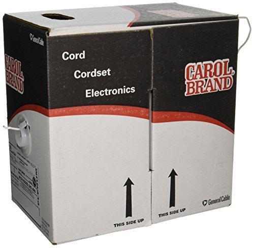 Carol E2102S.30.86 2 Sound, Alarm and Security Cable, Multi-Conductor, Shielded, Plenum, Natural Premium-Grade Natural Flexguard
