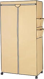 ルミナス ポール径25mm用パーツ 機能性アップパーツ ワードローブカバー 幅91.5cm×高さ180cm程度ラック用(キャメル) 幅92×奥行46×高さ173cm RT9018-CA
