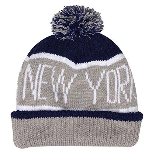 New Era ニット帽 MLB ニューヨーク・ヤンキース ネイビー/グレー [並行輸入品]