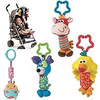 toyofmine Baby Rattle Toy Kidsベビーカー吊り下げベルPuppet Handbells Baby Carベビーベッドベビーカーおもちゃキュート風チャイム
