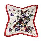 AINO シルク 風 調 スカーフ レトロ調 90cm 角正方形 大判正方形 スカーフ 贈り物 ギフト 母の日 プレゼント 2