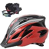 EVAN(エヴァン)超軽量 高剛性 自転車 ヘルメット 通勤 サイクリング ロードバイク 大人用 安全カラーサイクリンググローブ サングラス 付 全10色