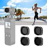 Neewer 磁気ND/PLフィルターセット DJI Osmo Pocketカメラに対応 4枚入り ND8/PL、ND16/PL、ND32/PLとND64/PLフィルター 光学ガラスと航空アルミフレーム製(ブラック)
