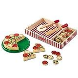 Melissa & Doug Pizza Party Wooden Play Food Set