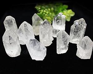 天然水晶ポイント 底辺カット 10本セット 約250-300g パワーストーン ブラジル産