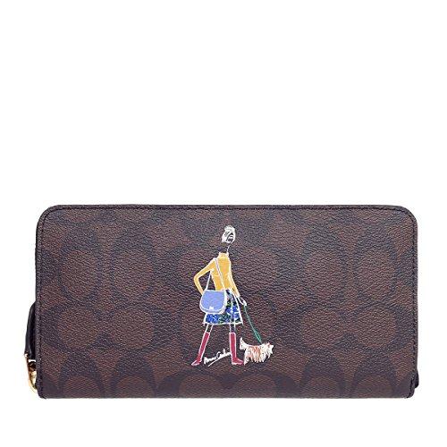 [コーチ] COACH 財布 (長財布) F57607 ブラウン×ブラック IMAA8 シグネチャー 長財布 レディース [アウトレット品] [並行輸入品]