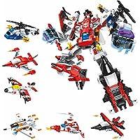 k.mono屋 ブロック 戦闘機ロボット 組み立て 合体 おもちゃ