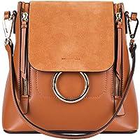 LI&HI Handbags Ladies Handbag Elegant Backpack Genuine Leather Handbag Brands - 25/23/13 cm (tan)