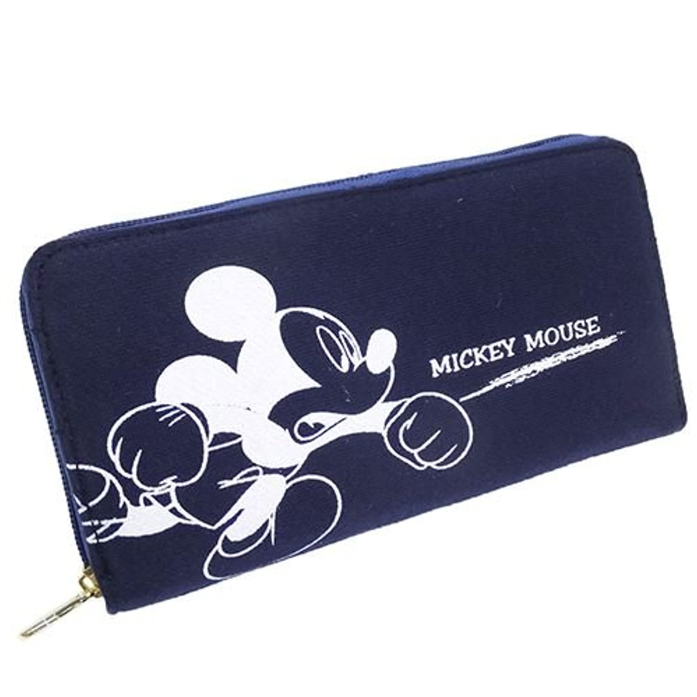 Disney ディズニー スウェットシリーズ 長財布 ラウンド束入れ DS8-11?ミッキー&ミニー